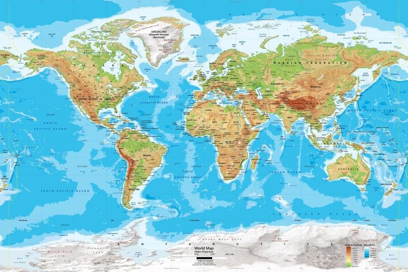 Nice Images Collection: World Map Desktop Wallpapers