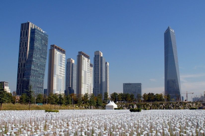 Download now full hd wallpaper songdo obelisk skyscraper south korea ...