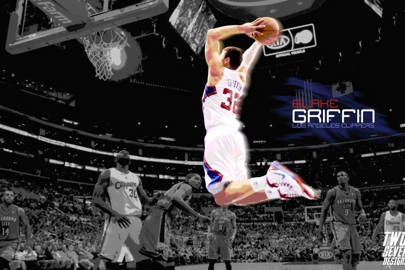 Blake Griffin Wallpaper – Excellent and Powerful Slam Dunking, Enjoy!