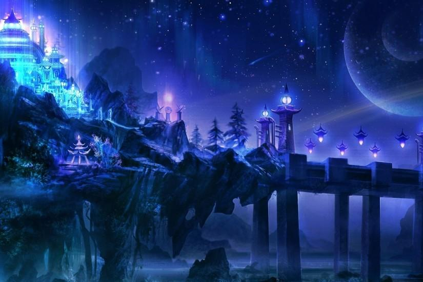 download free fantasy landscape wallpaper 1920x1200 4k
