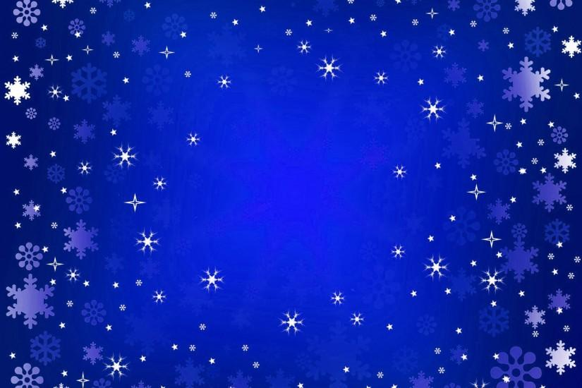 blue snow christmas background