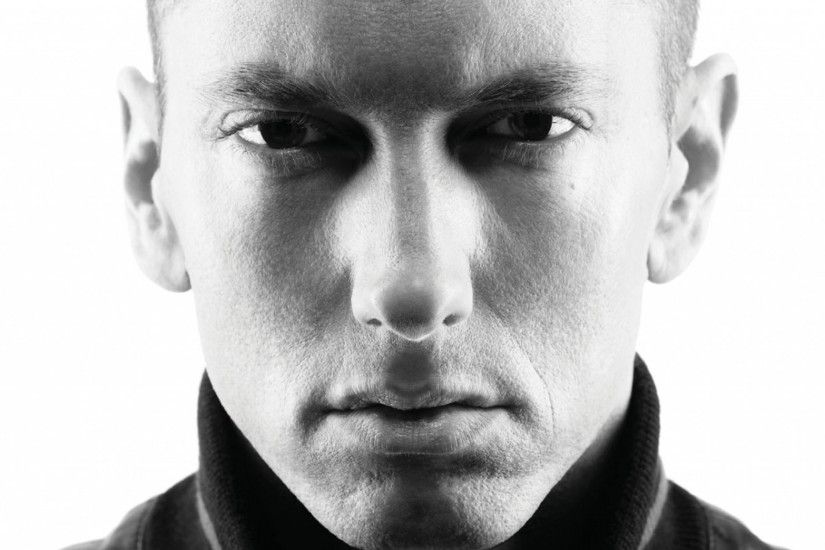 Preview wallpaper eminem, slim shady, evil, celebrity, singer, actor, black