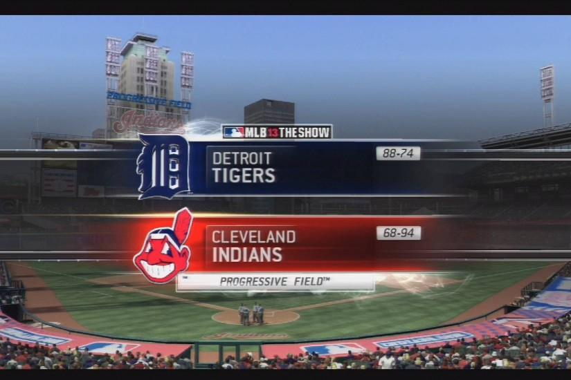 MLB 13 The Show Gameplay - Detroit Tigers at Cleveland Indians (Throwbacks)