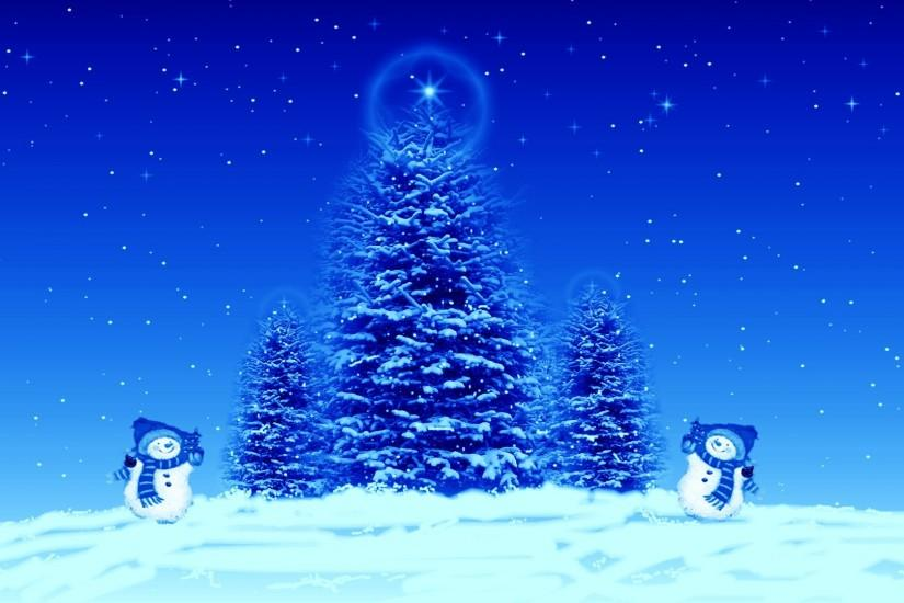 Blue Christmas HD Background.