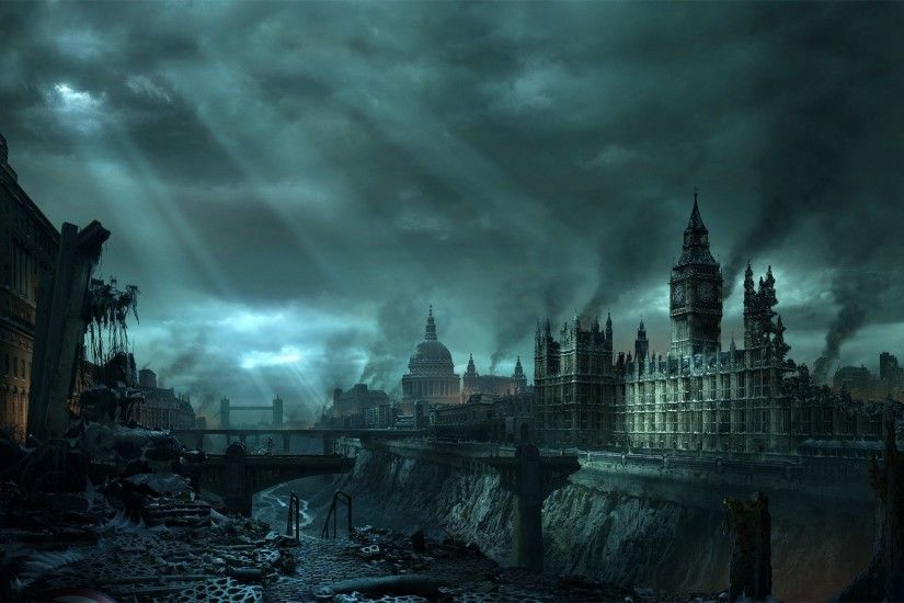 destroyed-london-england-europe-city-destruction-future-fantasy-1920x1200-wallpaper123918.jpg  970×600 pixels | City of Carnal Policy | Pinterest | Hd ...