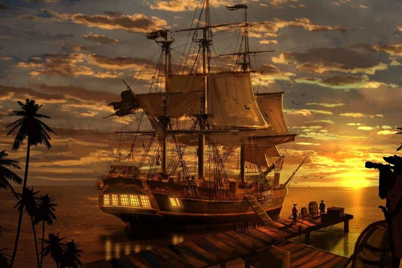 tablet, pictures,art, ship, fantasy, pirates fantasy wallpapers, boat,  pirate, backgrounds,mobile wallpaper, artwork Wallpaper HD