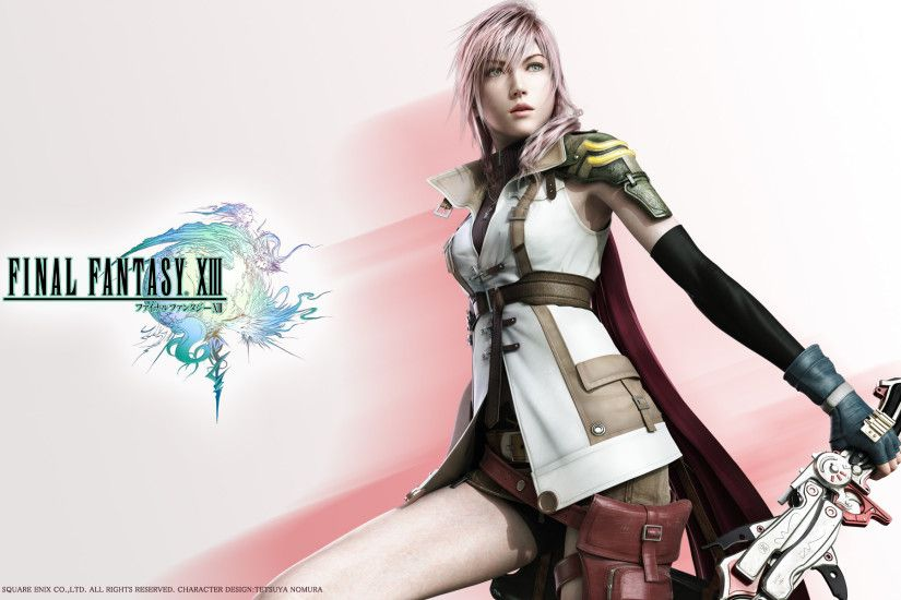 Tags: Anime, Final Fantasy XIII, Lightning Farron, Wallpaper, 3D