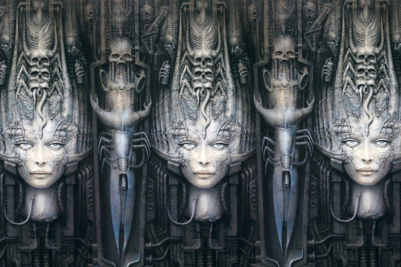 hr giger 1680x1050 wallpaper Art HD Wallpaper