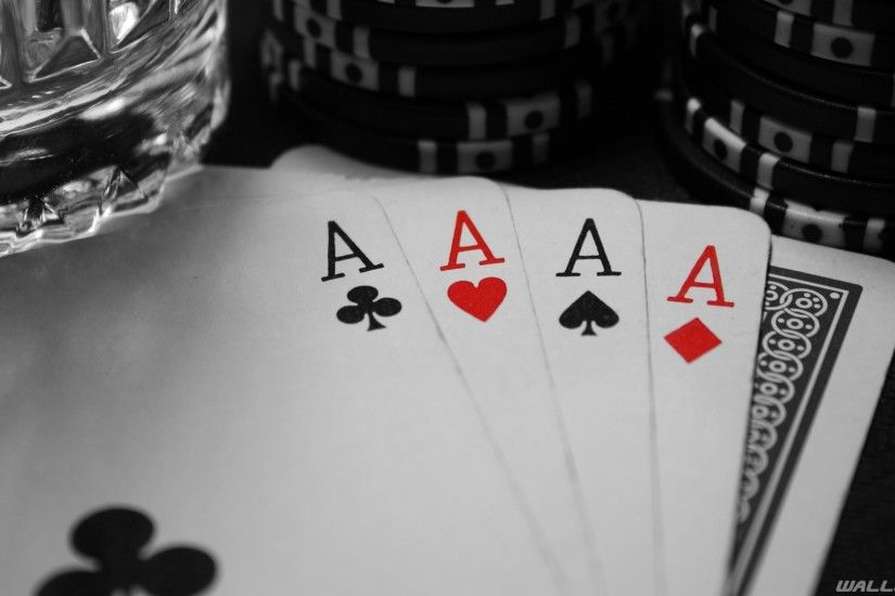 Aces Poker Cards Wallpaper