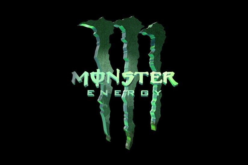 Awesome 3D Monster Energy Logo Wallpaper Wallpaper