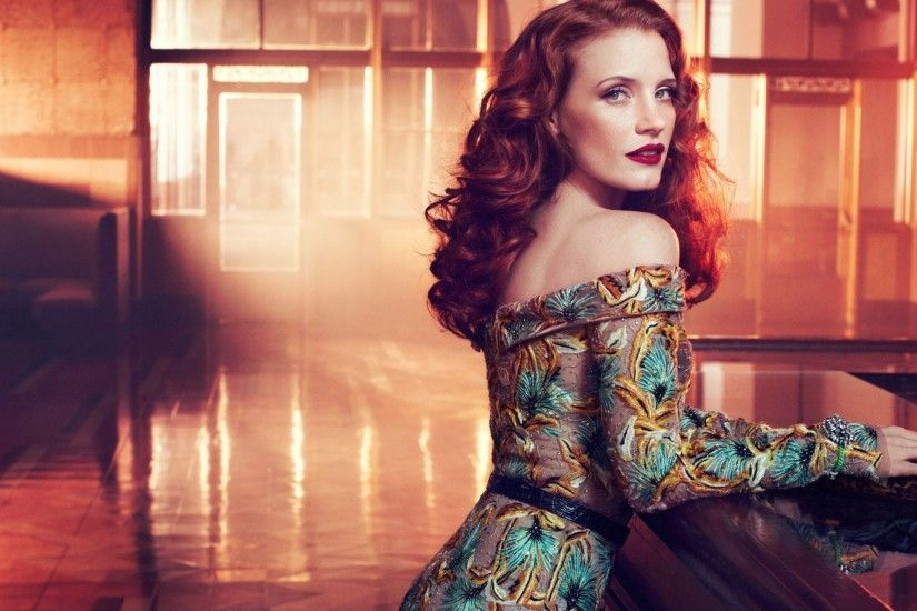 sexy jessica chastain wallpaper 7210