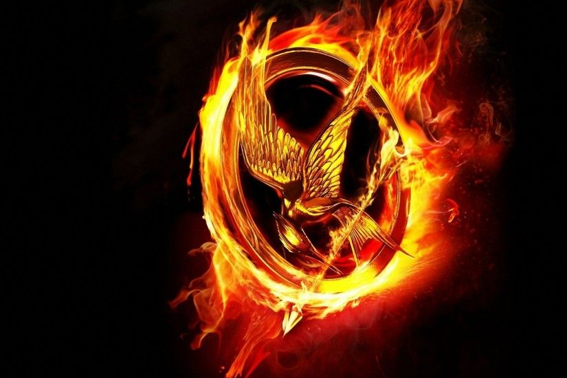... awesome wallpapers category. fire flame the hunger game logo