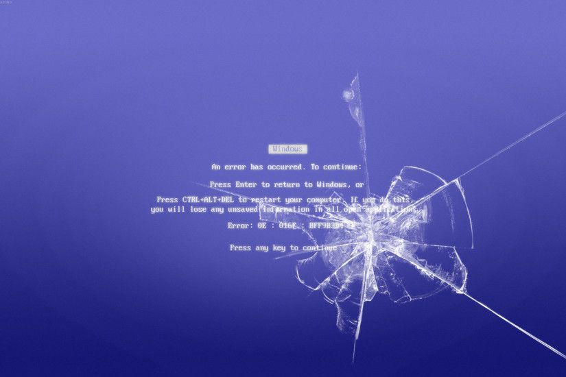 smashed BSOD wallpaper by Benguy12 smashed BSOD wallpaper by Benguy12