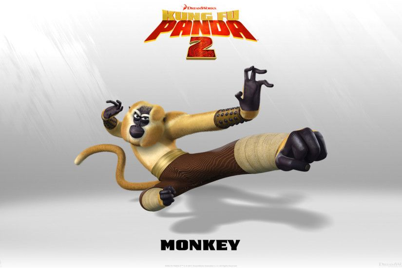 Monkey from Kung Fu Panda 2 Movie wallpaper - Click picture for high  resolution HD wallpaper