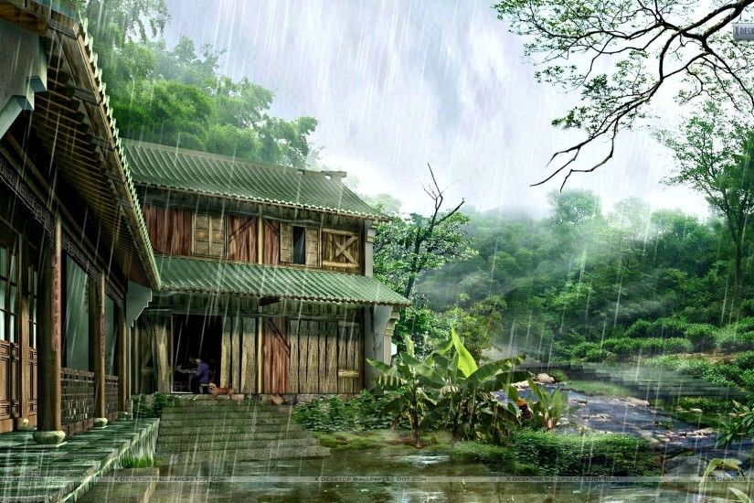 "You are viewing wallpaper titled ""Rainy Day And Nature ..."