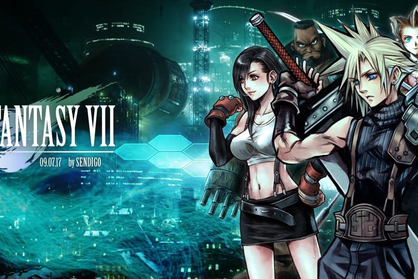 ... Final Fantasy VII: 20th Anniversary Wallpaper by Sendigo
