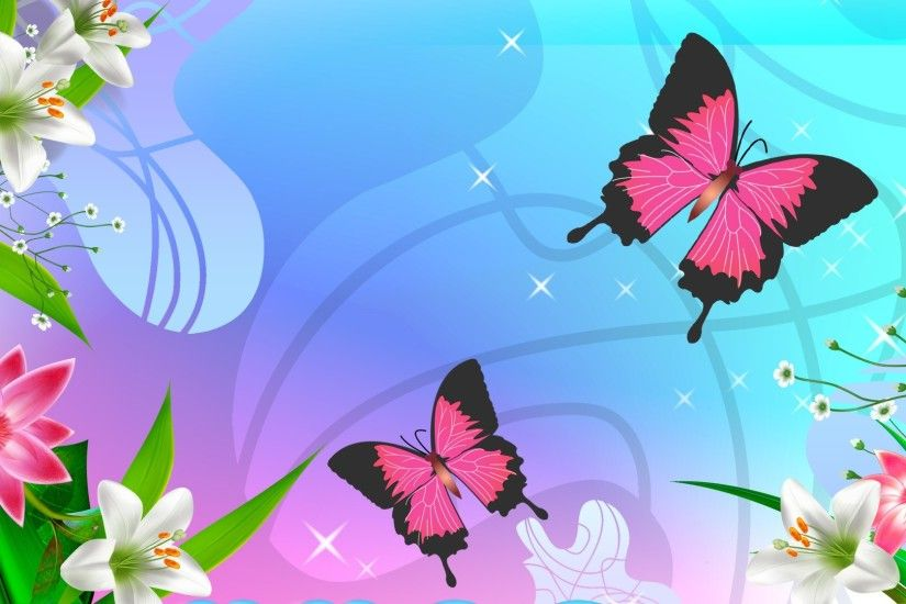... Wallpaper, Wallpaper, Pink Butterfly Desktop Wallpaper Hd Wallpaper ...