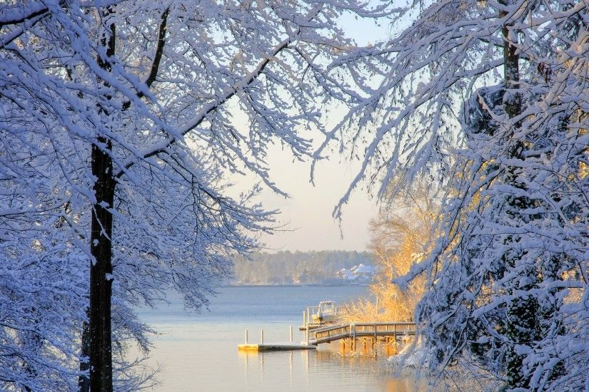 South Carolina winter snow trees lake wallpaper | 2048x1280 | 147055 |  WallpaperUP