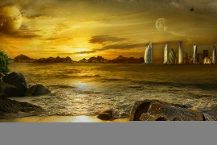 HD Chinese Painting Fantasy Landscape Entropy Matte Another World Wallpaper