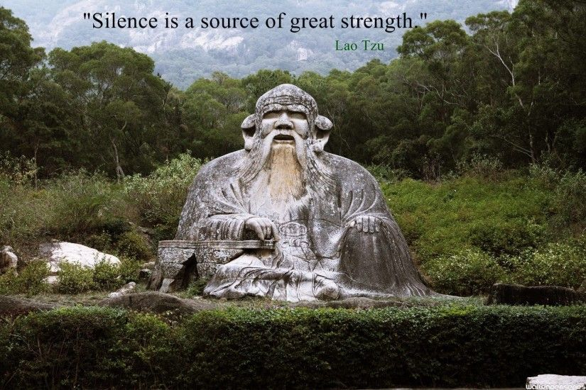 Lao Tzu Silence Quotes Wallpaper 10713