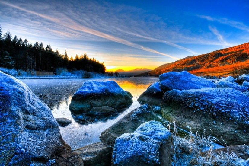 download high definition rock in water scenery wallpaper