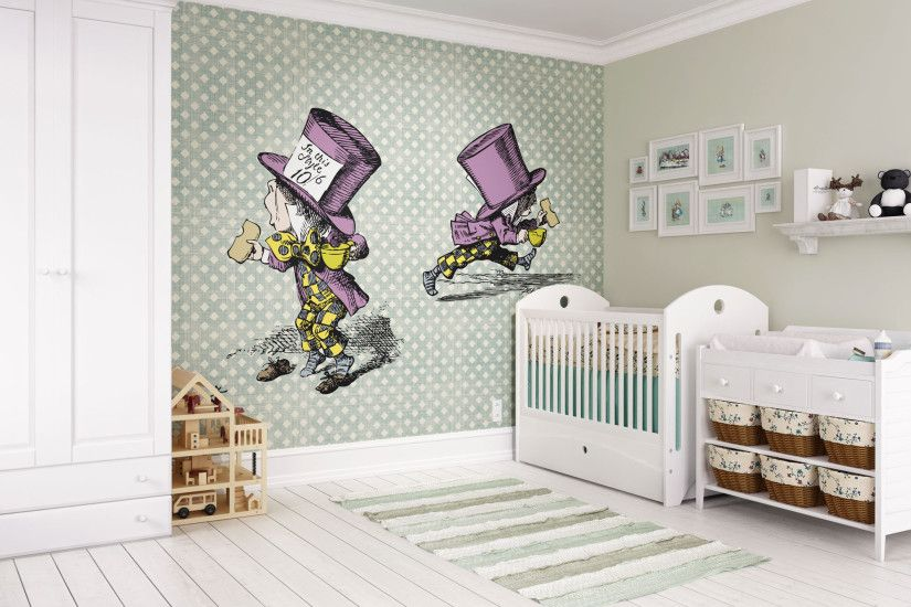 Alice In Wonderland Mad Hatter Wall Mural