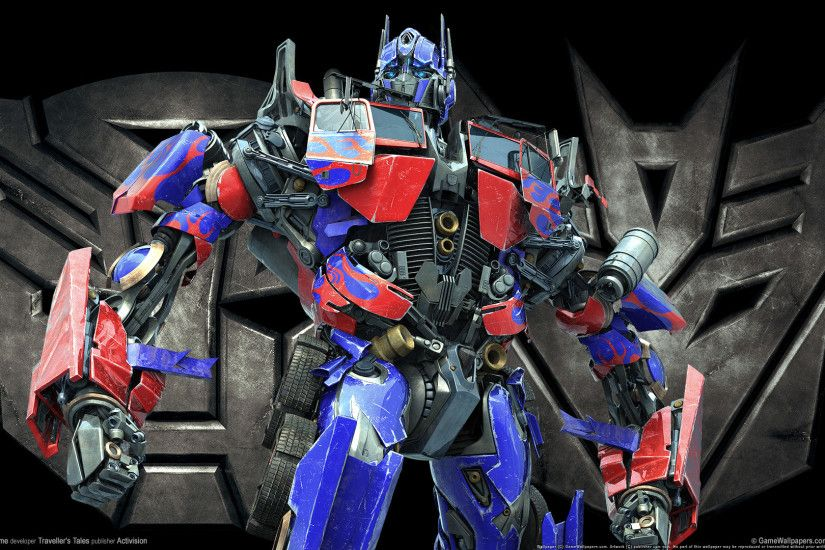 game transformers the game optimus wallpaper