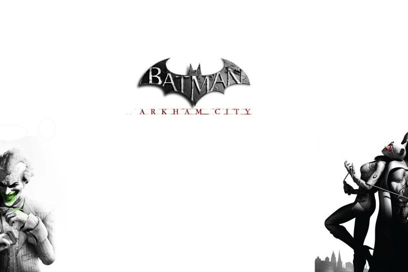 3840x2160 Wallpaper batman arkham city, joker, smile, characters, catwoman,  black and