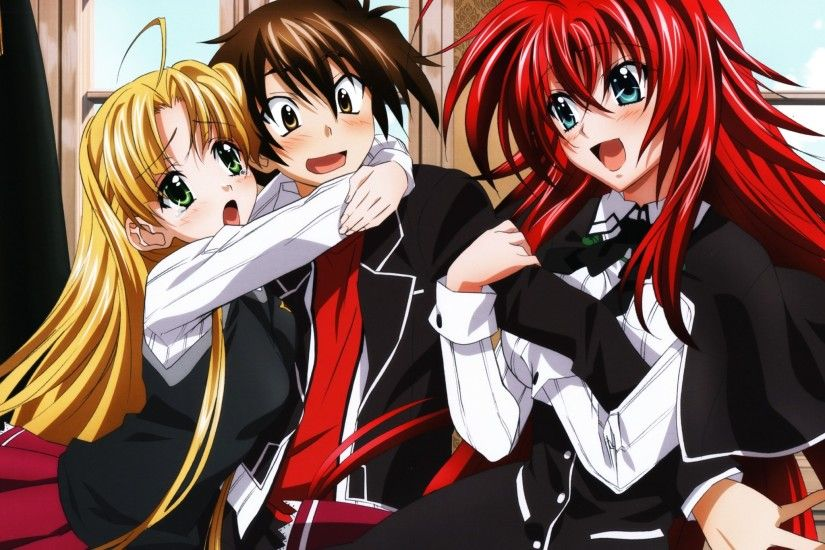 High School Dxd, Rias Gremory, Asia Argento, Issei Hyoudou, Redhead