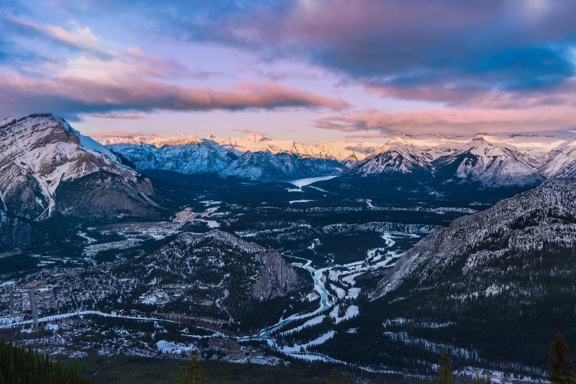 3840x2160 Bow Valley Sulphur Mountain 4K Desktop Background