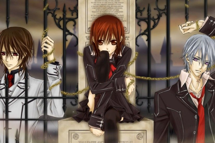 Preview wallpaper vampire knight, zero, kaname 2048x1152