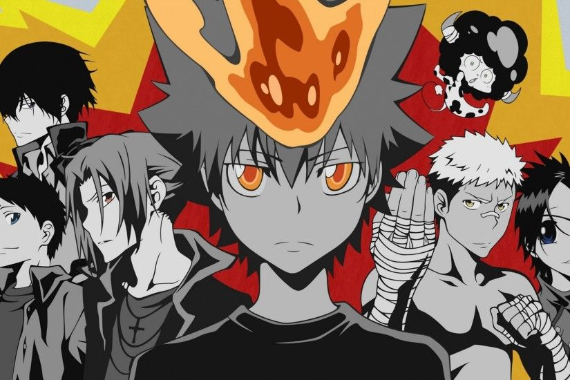 Download Katekyo Hitman Reborn Ghost Boy Crowd Background Popular Kawaii  Anime Wallpaper In Many Resolutions