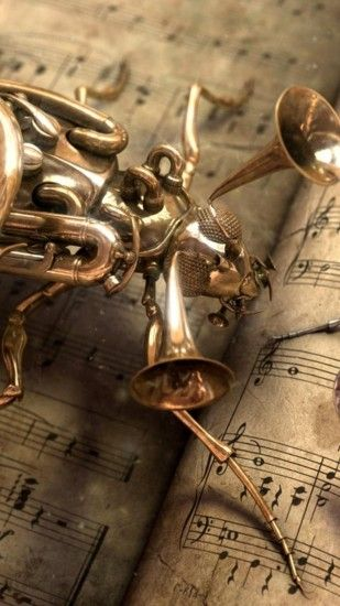 Musical Bug Steampunk Android Wallpaper ...
