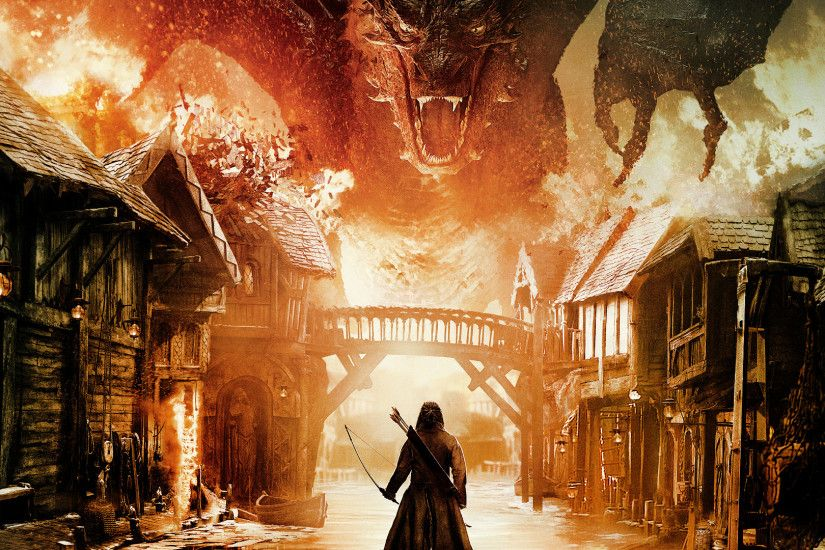 The Hobbit: The Battle Of The Five Armies, Smaug Wallpaper HD
