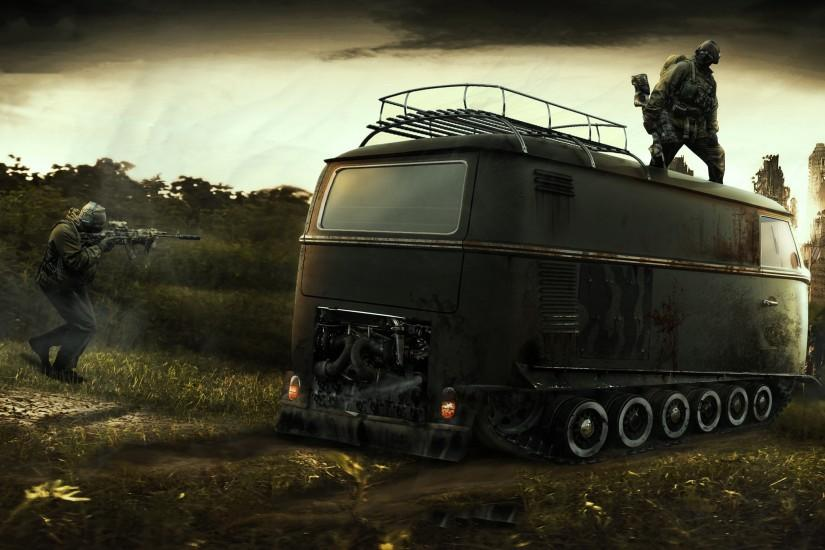 city aeYaeY car apocalypse zombies stalker apocalyptic wallpaper