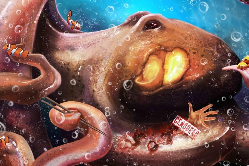 Sticks octopus tentacles food art underwater wallpaper | 2560x1600 | 156964  | WallpaperUP
