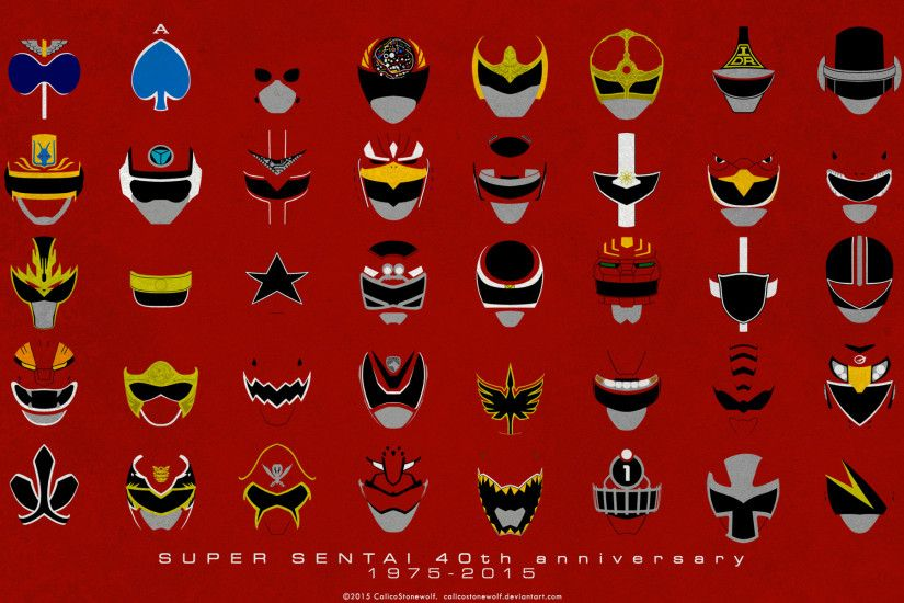 Super Sentai 40th Anniversary Wallpaper by CalicoStonewolf