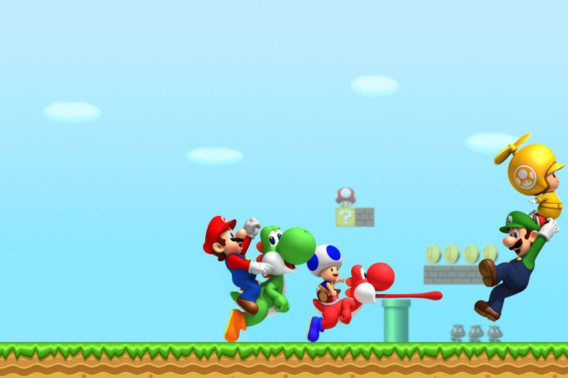 Wii New Super Mario Bros Wallpaper