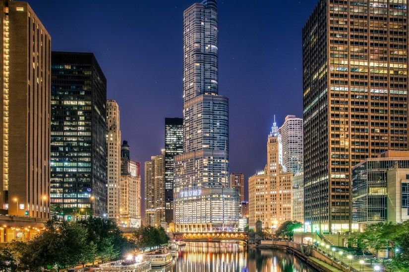 Chicago City Illinois HD desktop wallpaper : Widescreen : High .