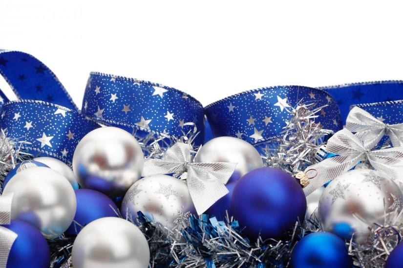 Blue And White Christmas Background (16)