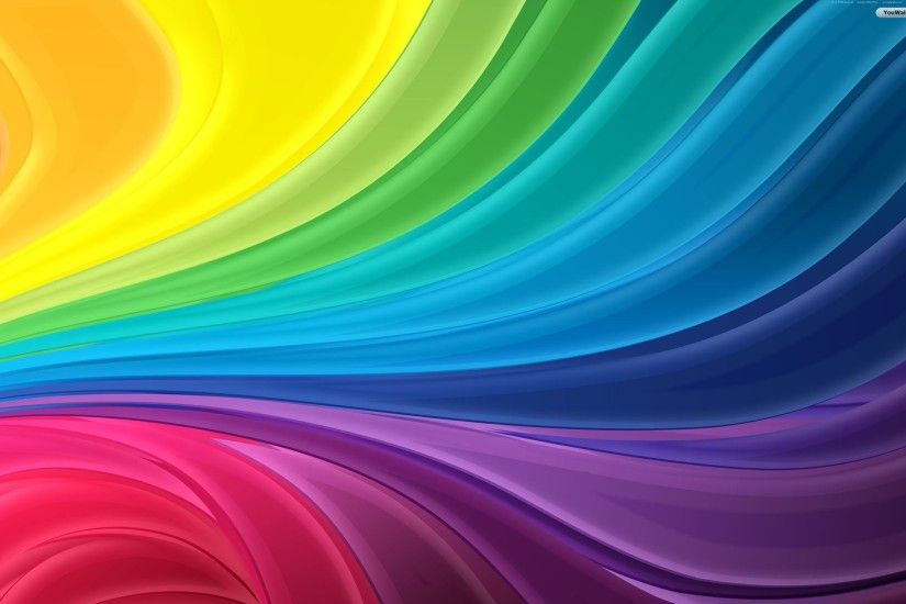 Abstract Rainbow Wallpaper