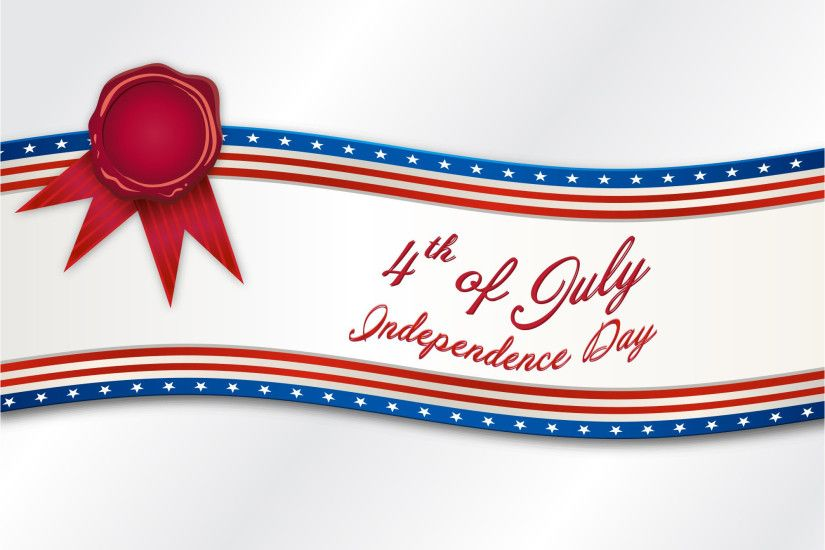 4th Of July American Independence day Ribbon Banner vector