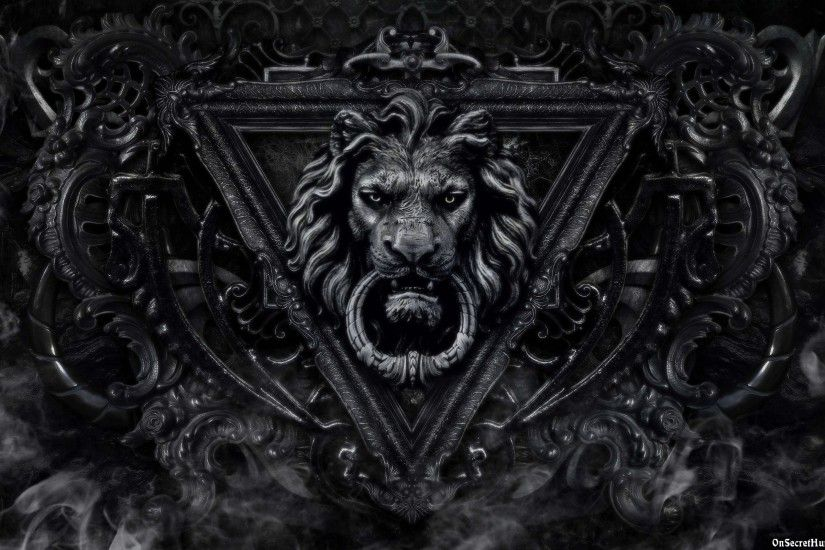 Lion Black And White Wallpaper High Resolution ...