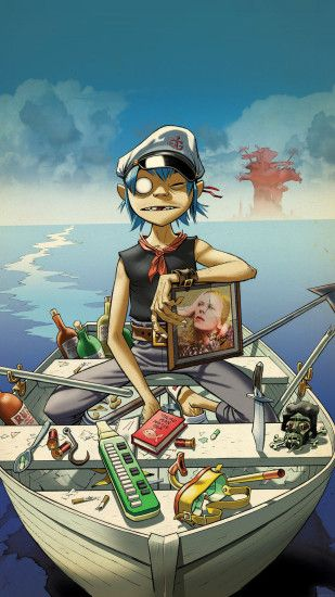 Gorillaz Boat iPhone 6 Plus Wallpaper