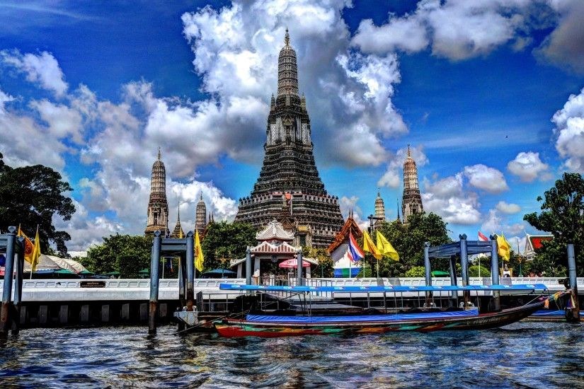wat arun temple computer desktop backgrounds by Dayna MacDonald (2017-03-21)