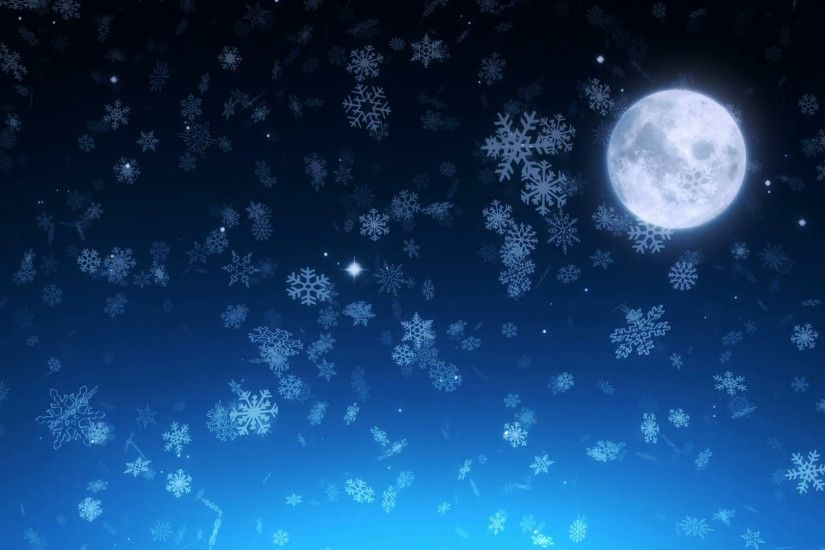 Winter night sky christmas snowfall - loopable background Motion Background  - VideoBlocks
