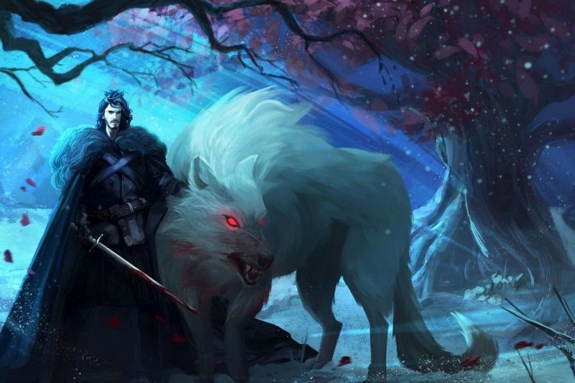 A Song of Ice and Fire Game Of Thrones Ghost Jon Snow · HD Wallpaper |  Background ID:601329
