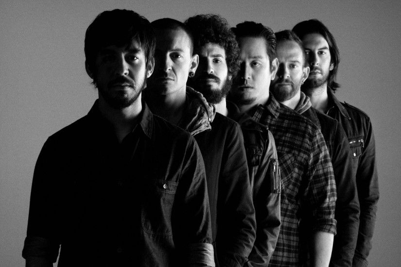Preview wallpaper linkin park, rock band, bw 1920x1080