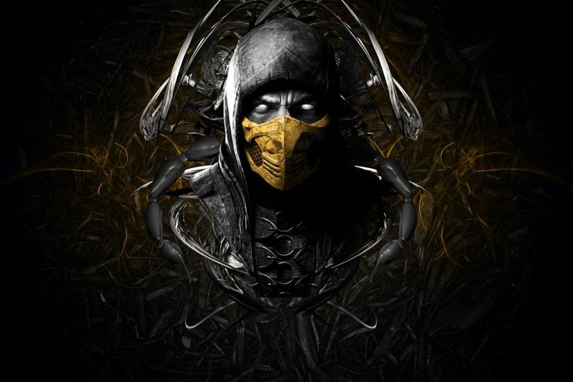 mortal kombat x scorpion face ninja mask 2560×1600 hd wallpapers amazing  cool desktop wallpapers