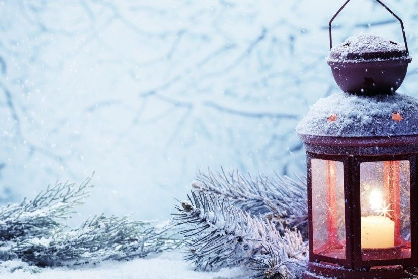 Winter - Xmas Christmas Snow Winter Lantern Wallpaper Download for HD 16:9  High Definition
